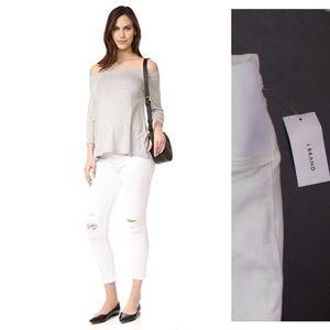 J Brand NWT Mama J Maternity Destroyed Capri Jeans